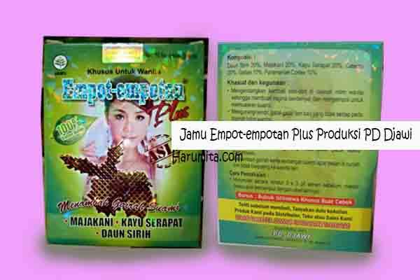 Jamu Empot-empotan Plus Produksi PD Djawi